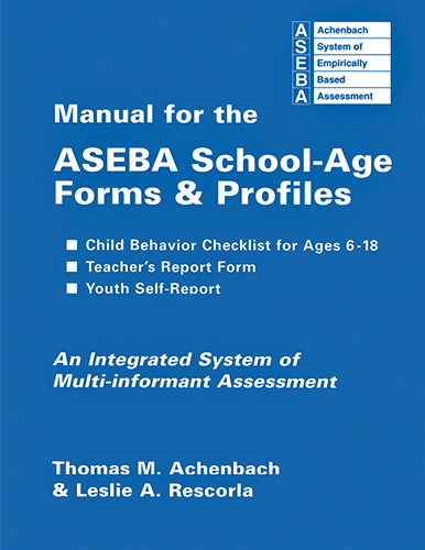 manual for the aseba school age forms & profiles