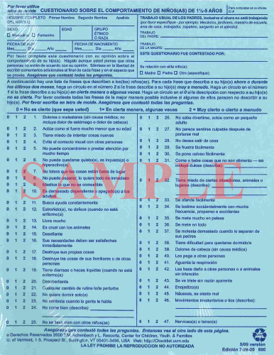 the child behavior checklist essay Parents will also want to consider whether their child's behavior could be  accommodations and modifications parent and child checklist  need help call.